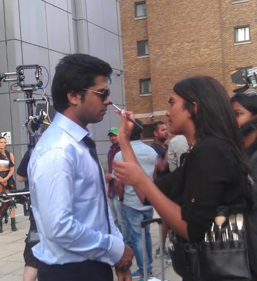Vithya working with Tamil actor Simbu.