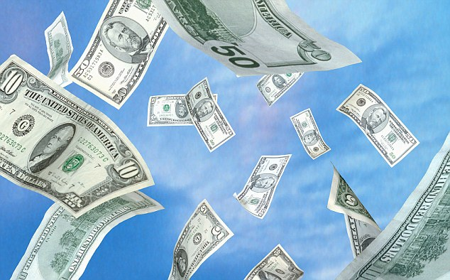 American Dollars Falling from the Sky