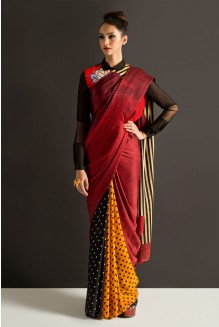 colour-blocked-minnie-saree