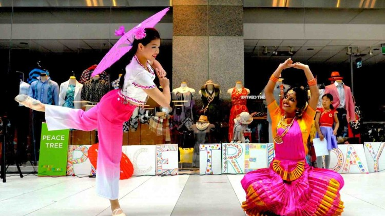 Aiiswariya Haran and Christine Leung Perform Fusion Dance on Peace Tree Day