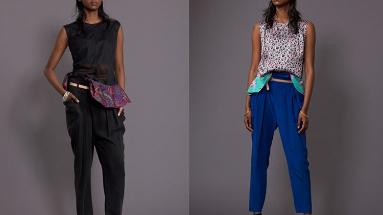 PAULA-IMMICH-TOP-VOLANTE-MESH-PANTS-PAPER-BAG-FOLD-OVER-BLACK-TOP-VOLANTE--LE-PANTS-PAPER-BAG-FOLD-OVER-ELECTRIC-BLUE-XX