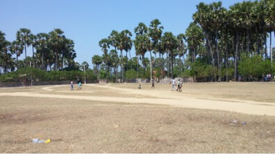 Our youth clubs first boys cricket team. The boys were practicing for their first tournament.