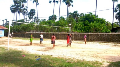 And these are our girls playing their favourite sport, volleyball.