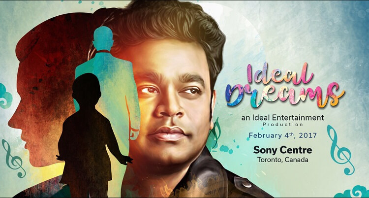 Ideal Dreams - A Triubute to AR Rahman - an Ideal Entertainment Production, Sony Centre, Toronto, Canada, February 4, 2017 (CNW Group/Ideal Entertainment)