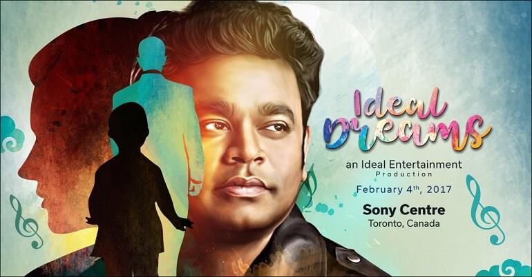 Ideal Dreams - A Triubute to AR Rahman - an Ideal Entertainment Production, Sony Centre, Toronto, Canada, February 4, 2017 (CNW Group/Ideal Entertainment)