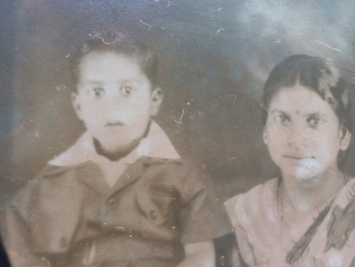 My father as a child and paternal grandmother.