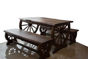 Wheel Table, 129 - B1, Akasiya wood_opt