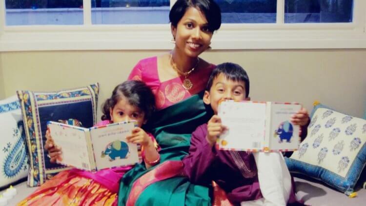 Vanitha with her 2 little munchkins - Johann & Meera