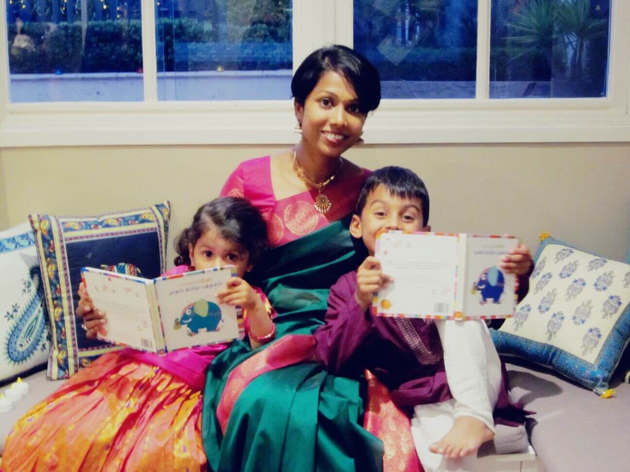 Vanitha with her 2 little munchkins - Johann & Meera