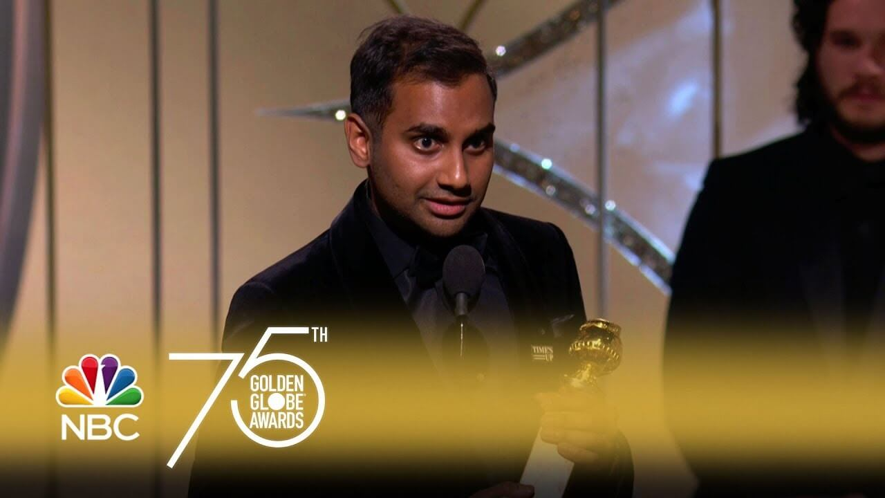Aziz-Ansari-Wins-Best-Actor-in-a-TV-Series-Comedy-at-the-2018-Golden-Globes